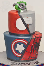 marvel superhero cake bearkery bakery