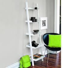 Narrow Ladder Bookcase by Amazon Com Kiera Grace Hadfield 5 Tier Leaning Wall Shelf 18 By