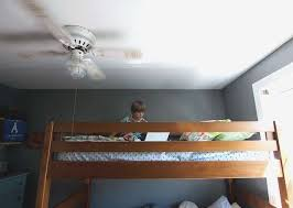 Bunk Bed Fan To Ceiling Fan Contemporary Saving Space With Bunk Beds Diy