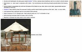 Used Patio Umbrellas For Sale Deckster Patio Umbrella Anchoring System Umbrella Stand
