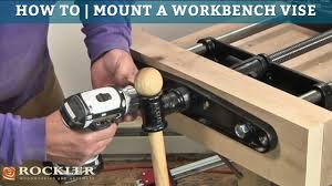 Woodworking Bench Vise Installation by How To Mount A Workbench Vise Youtube