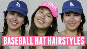 baseball hair styles baseball hat hairstyles youtube