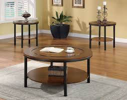 Wood Round End Table 2017 Popular Dark Wood Round Coffee And End Table Sets