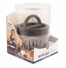 airscape kitchen canister airscape glass 64 oz coffee container espresso planet canada