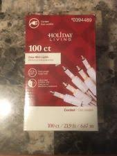 holiday living clear mini christmas lights 100ct white wire