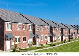 pictures of houses row new houses england stock photo royalty free 509223637