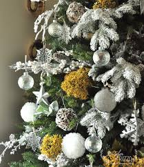 a natural gold galvanized and white christmas tree decorating idea