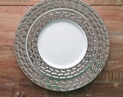 silver wedding plates wedding plates etsy