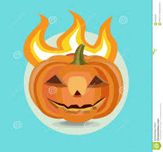 Halloween Pumpkin Icon Halloween Pumpkin Flat Design Icon Stock Illustration Image