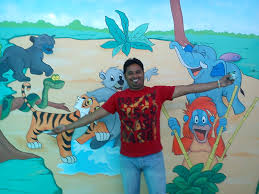 play school classroom wall painting thana ghatkoper mulund play school wall painting mumbai