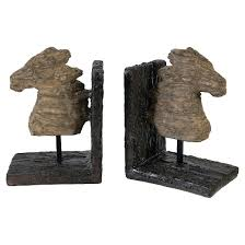 set of 2 rustic horse bookends target