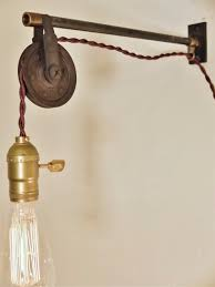 Hanging Industrial Lights by Vintage Industrial Pulley Sconce Wall Mount Pendant Light