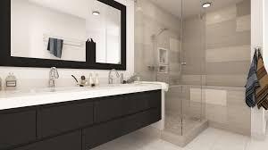 two modern bathroom remodels