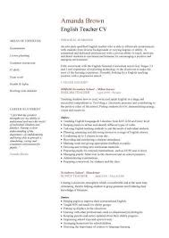 Resume Examples For Teachers No Experience by Best 25 Cv English Example Ideas On Pinterest Cv Example