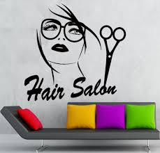 wall sticker vinyl decal hair salon stylist beauty