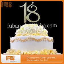 rhinestone monogram cake topper hot sale gold plated number 18 rhinestone monogram cake
