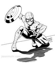 daily sketch civil war spider man u2014 jason muhr freelance