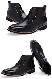 mens stylish mid top casual dress boots stylish and modern