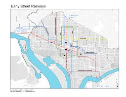 washington dc trolley map capital streetcars early mass transit in washington d c book