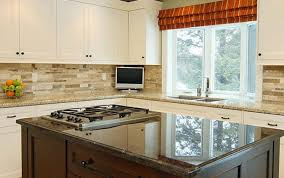 Yellow Kitchen With White Cabinets - kitchen amusing stone kitchen backsplash with white cabinets
