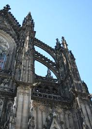 flying buttress cologne koln cathedral of st peter and st mary detail of
