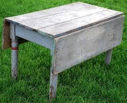 Square Drop Leaf Table Antique Primitive Farmhouse Drop Leaf Coffee Sofa Table Blue