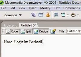 membuat login dengan php di dreamweaver cara membuat form login di dreamweaver bos arman