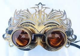 steunk masquerade mask gold distressed look steunk glam ballroom masquerade mask