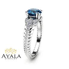 london blue topaz engagement ring london blue topaz engagement ring unique 14k white gold
