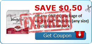 Vanity Napkins Vanity Fair Napkins U2013 Only 65 Each New Coupon Publix Savings 101
