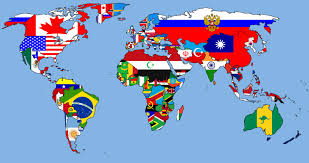Europe Country Flags World Map And Flags Of Europe Vector Image 57625 Rfclipart Map