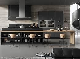 cuisine designe cuisine design en bois et gris anthracite