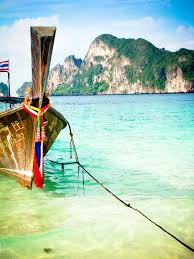 boat on long beach koh phi phi thailand lisa solman