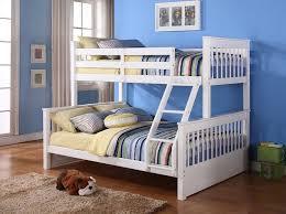 White Wooden Bunk Bed White Wooden Bunk Beds With Ladder Syrup Denver Decor Stylish