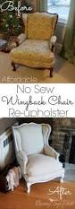 No Sew Slipcover For Sofa No Sew Wing Chair Slipcover Made By Hand Pinterest Chair