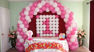 Balloon Decoration For Birthday At Home by 1st Birthday Balloon Decorations Youtube