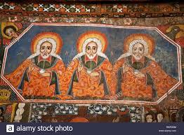 ethiopia gondar debre birhan selassie church ancient paintings