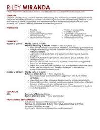 Education Resume Example Sample Teacher Resumes Substitute Teacher Resume Resume