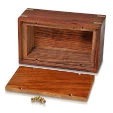 wooden box pet urn small