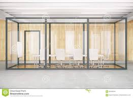 conference room inside glass box front stock illustration image