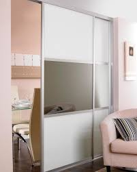 Interior Design Sliding Wardrobe Doors by Deluxe 35mm Rounded Style Aluminium Soft White And Grey Mirror
