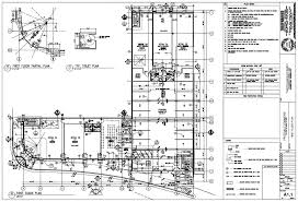 architectural building plans vertical title block drafting arch