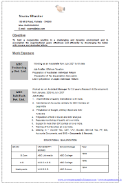 Format Of Job Resume by Professional Curriculum Vitae Resume Template For All Job