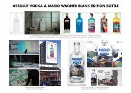 absolut vodka design absolut vodka absolut wagner bottle design branding by tbwa