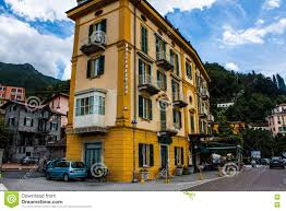 varenna on lake como italy june 15 2014 hotel building in