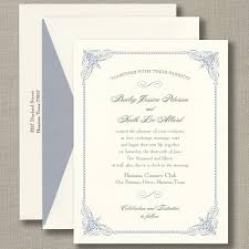 sle wedding announcements truly blue vintage frame warm white wedding invitation