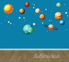 solar system wall decals space wall decal stickers reusable solar system wall decals space wall decal stickers reusable fabric decal by wallstickerstudio on