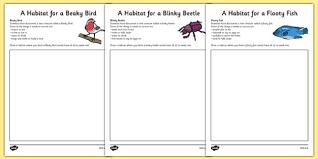 australia imaginary animal habitat worksheets science year