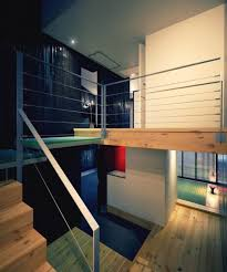 Landing Banister Home Design Modern Staircase With Metal Banister And Wooden Step