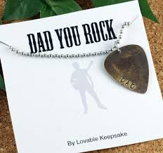 Personalized Mens Necklaces Personalized Mens Guitar Pick Necklace Fathers Day Mens